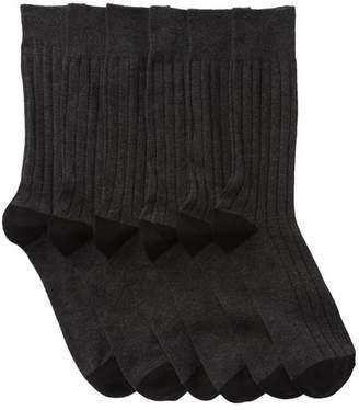 Nordstrom Basic Ribbed Socks - Pack of 6