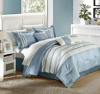 Chic Home Torino Pleated Piecing Luxury Bedding Collection 11-Piece Comforter Set