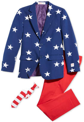 OppoSuits Big Boys 3-Pc. Stars & Stripes Suit & Tie Set