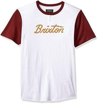 Brixton Men's Jolt IV Short Sleeve Standard Fit Henley Knit Tee