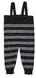 Mini Sibling Infants' Striped Stockinette-Stitched Suspender Pants