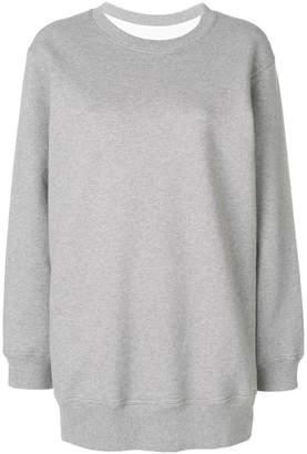 MM6 MAISON MARGIELA checked back sweatshirt