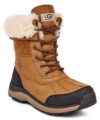 UGG Women's Adirondack Round Toe Leather & Suede Waterproof Booties