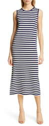 Jenni Kayne Stripe Sleeveless Merino Wool Midi Dress