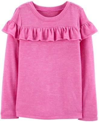 Osh Kosh Oshkosh Bgosh Girls 4-14 Ruffled Knit Top