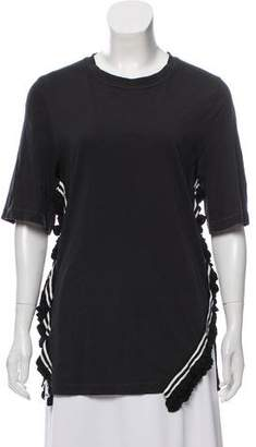 3.1 Phillip Lim Ruffle-Accented Short Sleeve Top