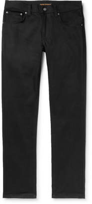 Nudie Jeans Grim Tim Slim-Fit Organic Stretch-Denim Jeans - Black