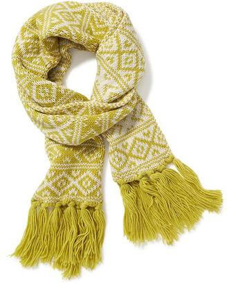 Jacquard Fringe Scarf for Women $18.94 thestylecure.com