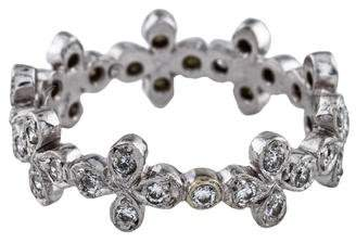 Cathy Waterman Diamond Floral Eternity Band
