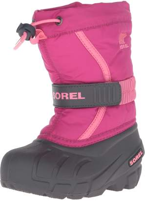 Sorel Kid's CHILDRENS FLURRY Boot, Black/Bright Red