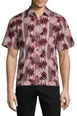 Prada Abstract-Print Cotton Shirt