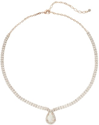Occasion Short Rhinestone Teardrop Necklace