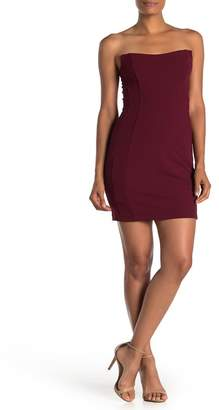 Love, Nickie Lew Strapless Solid Dress