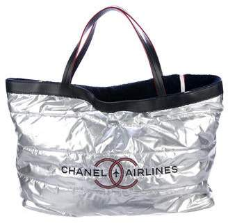 Chanel 2016 Airline Reversible Beach Tote w/ Pouch
