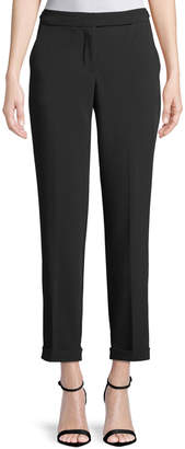 Max Studio High-Waisted Double-Cloth Pants