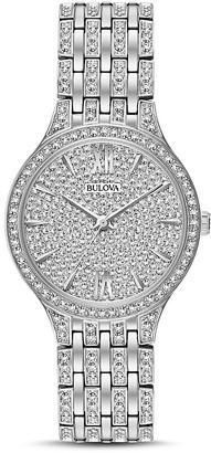Bulova Crystal Pavé Watch, 32mm $425 thestylecure.com