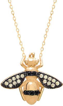 GABIRIELLE JEWELRY 22K Over Silver Cz Bee Necklace