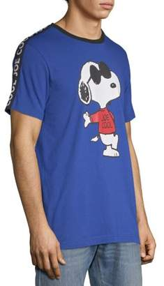 Peanuts Men's Snoopy and Short Sleeve Graphic Tee