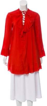 IRO Lace-Up Shift Dress
