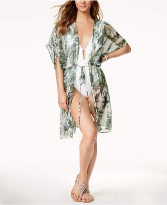 INC International Concepts I.n.c Palm-Print Kimono & Cover-Up, Created for Macy's