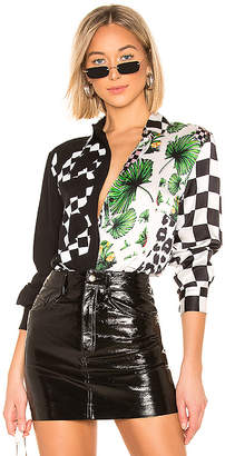 Versus By Versace Mix Print Blouse