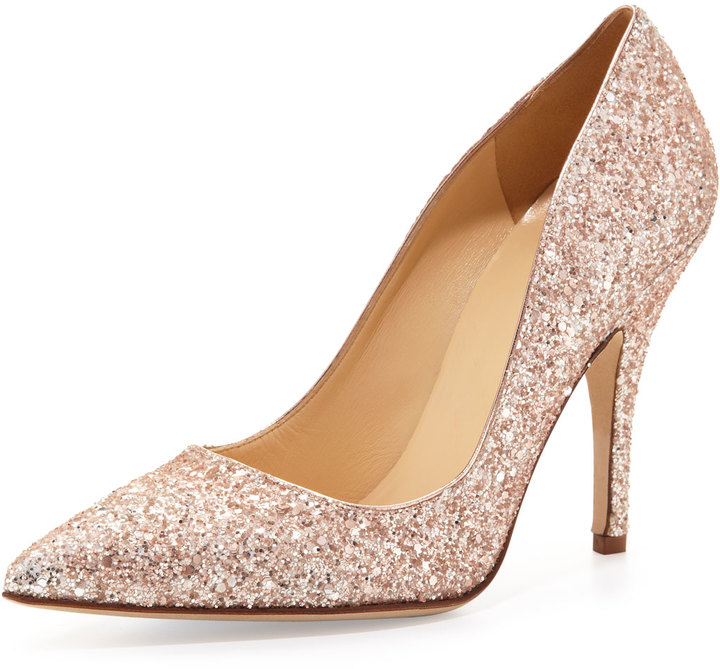 Kate Spade Licorice Too Glittered Pointy Pump
