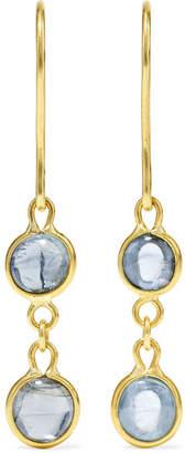 Pippa Small 18-karat Gold Aquamarine Earrings - one size