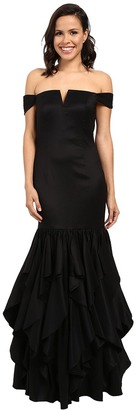 Adrianna Papell Off Shoulder Mermaid Ruffle Gown $299 thestylecure.com