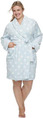 Sonoma Goods For Life Plus Size SONOMA Goods for Life Short Plush Robe