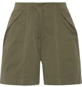 Monse Pleated Cotton-Twill Shorts