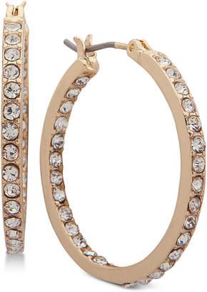Nine West Crystal In & Out Hoop Earrings