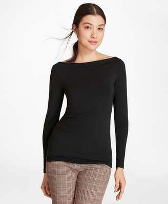 Brooks Brothers Bateau-Neck Jersey Long-Sleeve T-Shirt