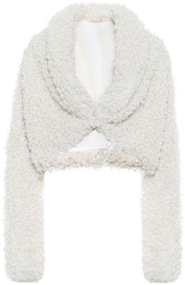 Cult Gaia Evie faux-fur cropped jacket