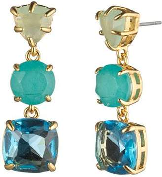 Carolee Three-Stone Linear Drop Earrings