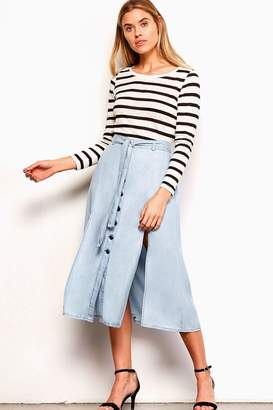 BB Dakota Chambray Midi Skirt