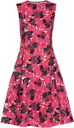 OSCAR DE LA RENTA Floral-print cotton-blend dress $990 thestylecure.com