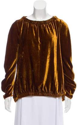 Zero Maria Cornejo Velvet Long-Sleeve Top w/ Tags