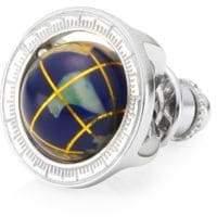 Tateossian Globe Round Pin