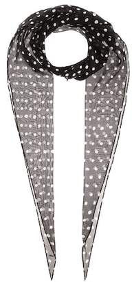 Saint Laurent Polka-dot silk scarf