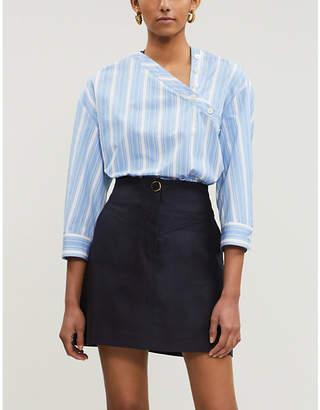 Sandro Gisel high-rise cotton-blend skirt