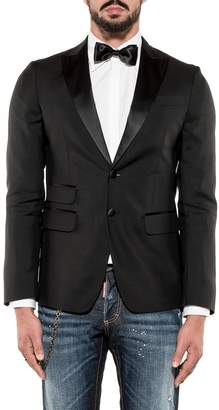 DSQUARED2 Black Wool Blazer