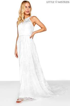 Next Womens Little Mistress High Neck Lace Bridal Maxi Dress