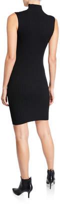 525 America Mock-Neck Sleeveless Sweater Dress