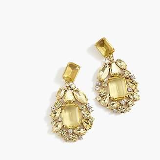 J.Crew Cluster drop stone earrings