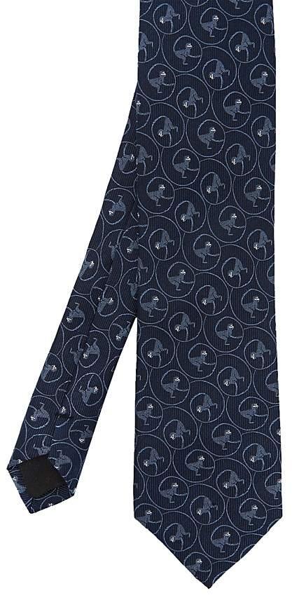 Ted Baker Wirret Monkey-Print Silk Skinny Tie