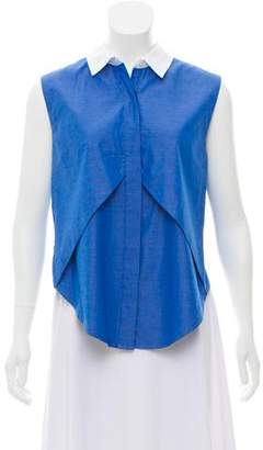 Jonathan Simkhai Sleeveless Button-Up Top
