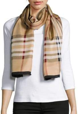 Lord & Taylor Silk Plaid Scarf $58 thestylecure.com