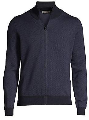 Corneliani Men's Full Zip Wool Sweater