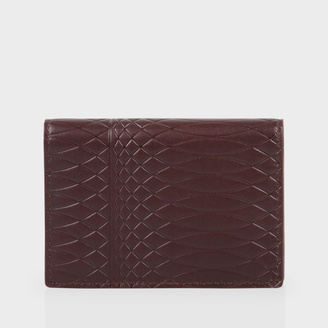 Paul Smith No.9 - Brown Leather Credit Card Wallet $180 thestylecure.com