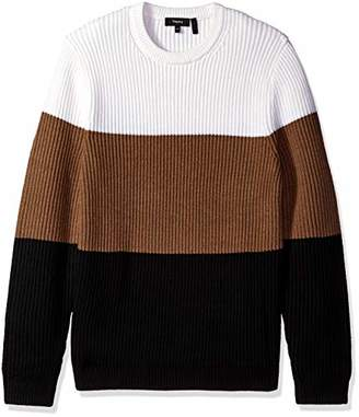 Theory Men's tri Color Chunky Wool Sweater